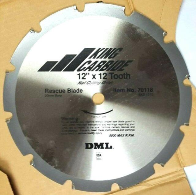 Where to find BLADE KING CARBIDE 12  X 12 TOOTH RESCUE in Evansville